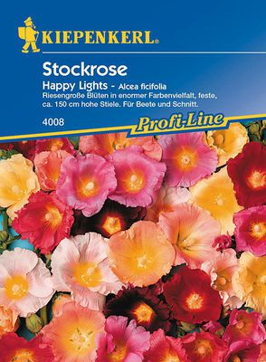 Stockrosen: Happy Lights, Alcea ficifolia